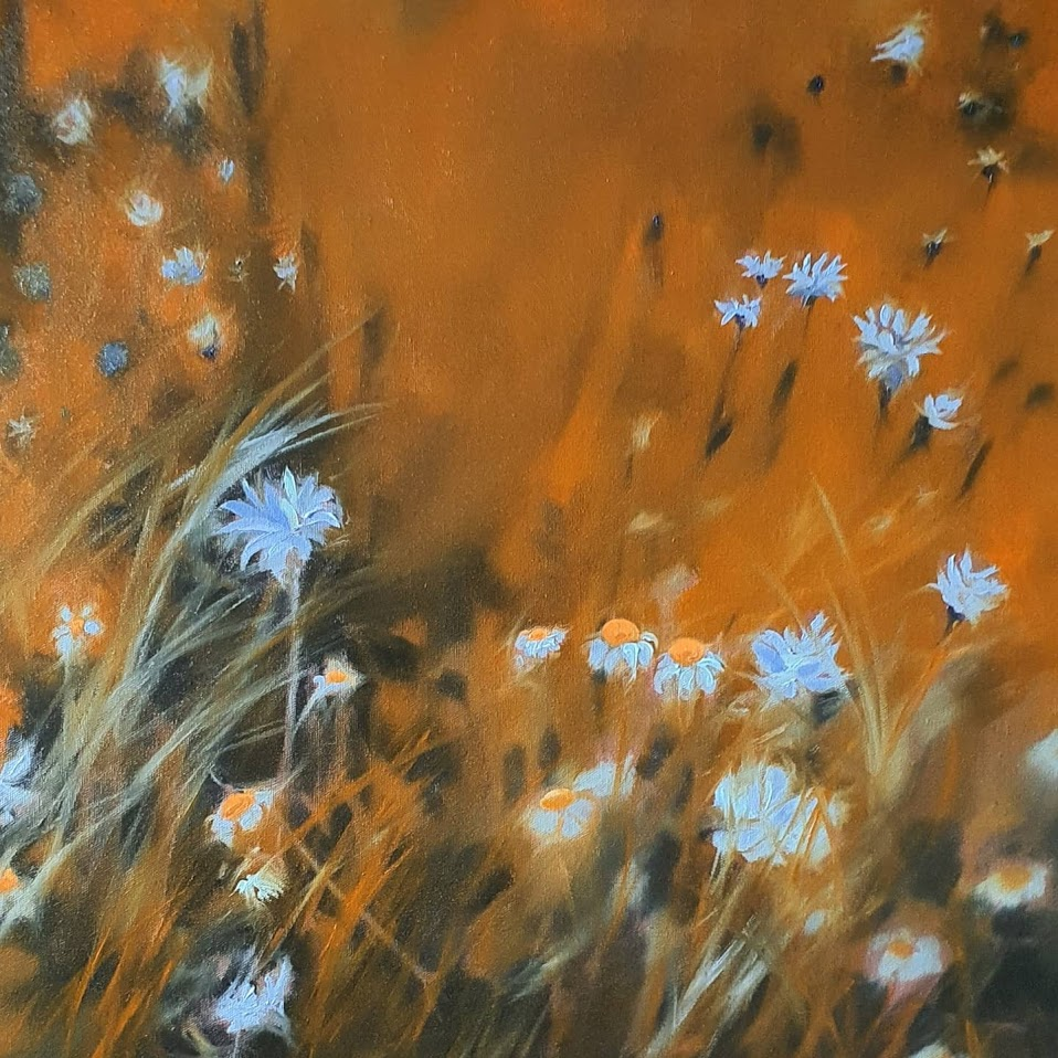 oil painting wild flowers non dual art